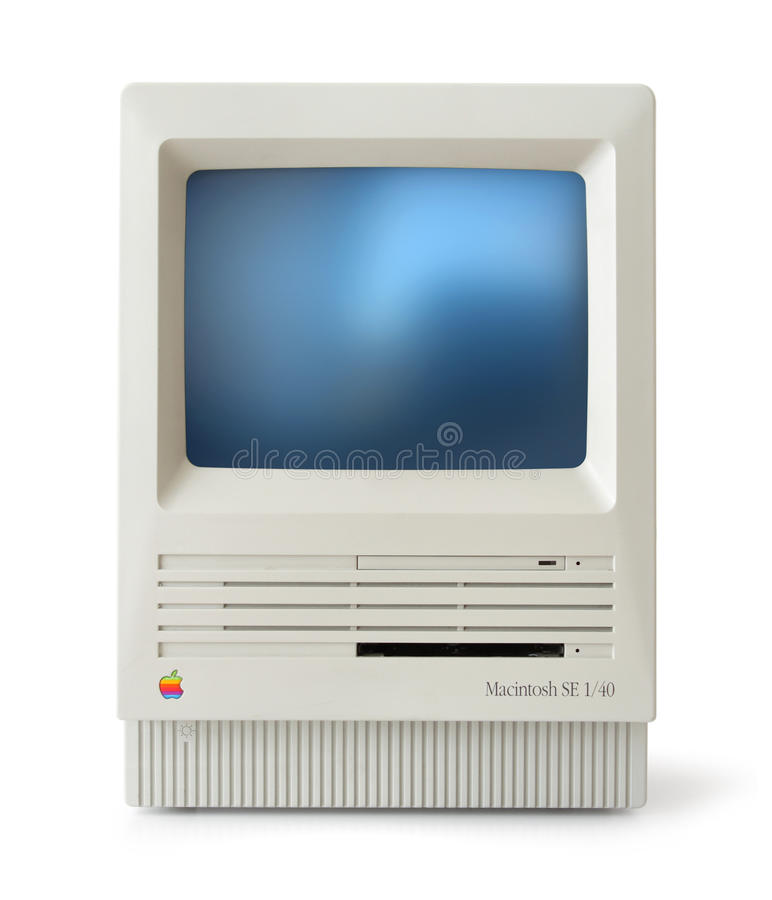 Free Classic Mac SE Front Royalty Free Stock Images - 16015049
