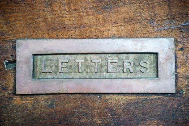 Classic Mailbox Door stock image