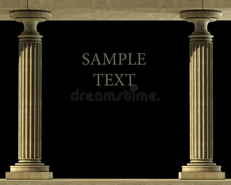 Classic Marble Column. High resolution 3D royalty free stock images