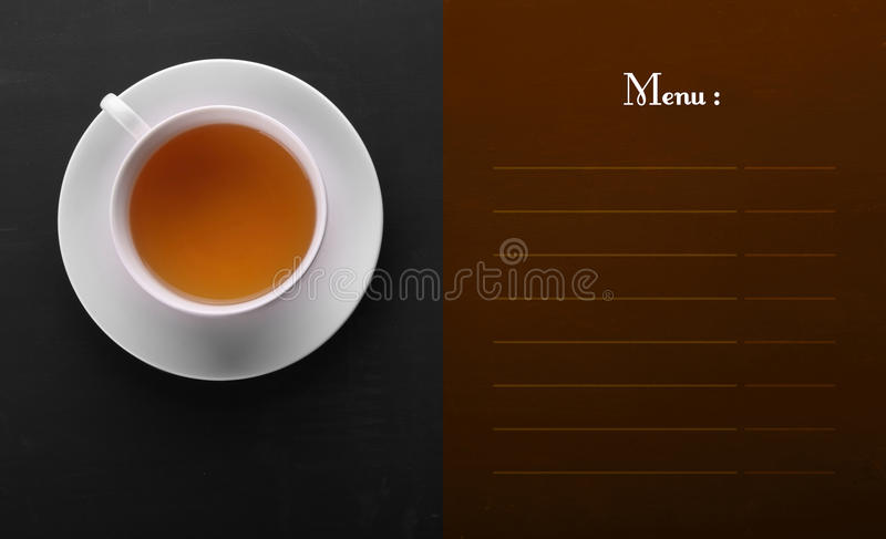 Classic menu design with copy space royalty free stock image
