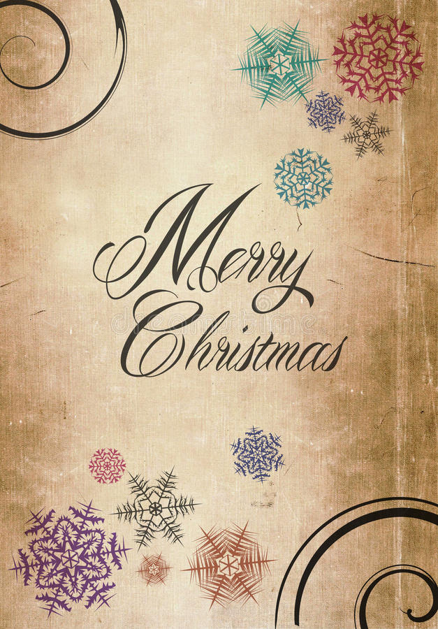 Free Classic Merry Christmas New Year Card Paper Royalty Free Stock Photo - 33982045
