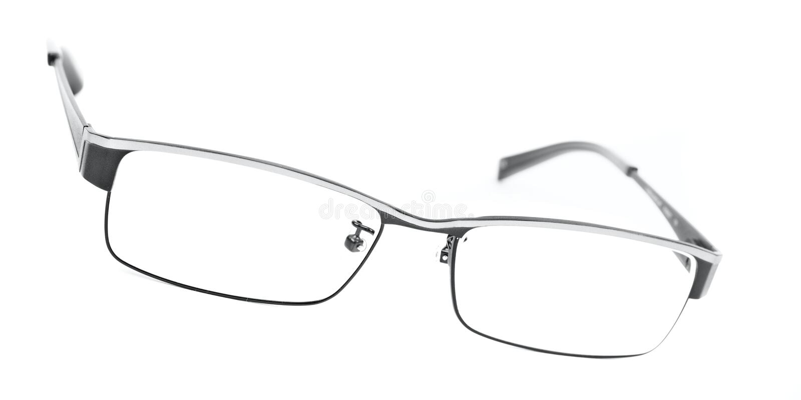 Classic metal-framed glasses royalty free stock photo