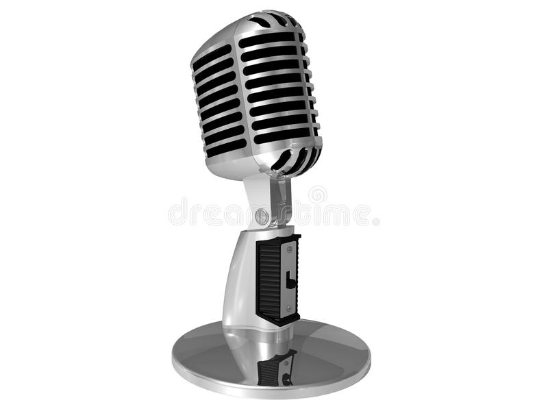 Classic microphone royalty free illustration