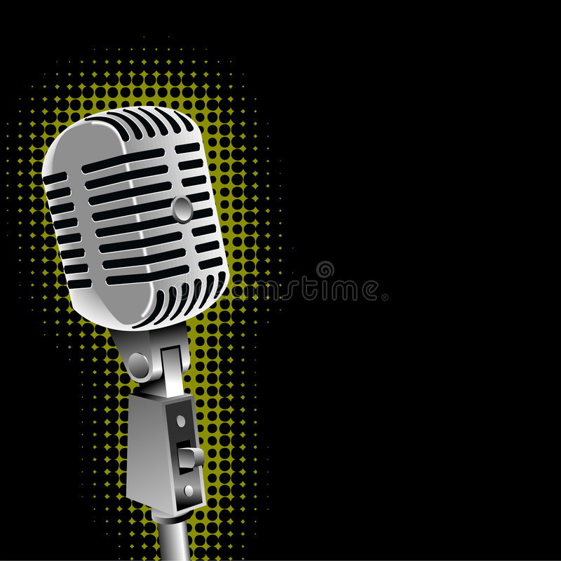 Classic microphone graphic royalty free stock photos