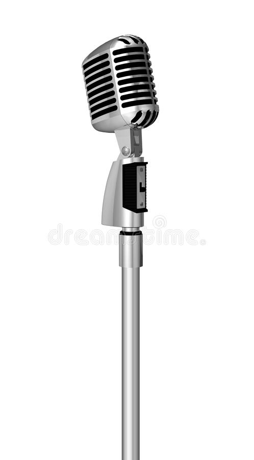 Classic Microphone On Pole Royalty Free Stock Photo