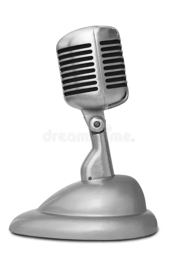 Classic Microphone Side View. On a White Background royalty free stock images