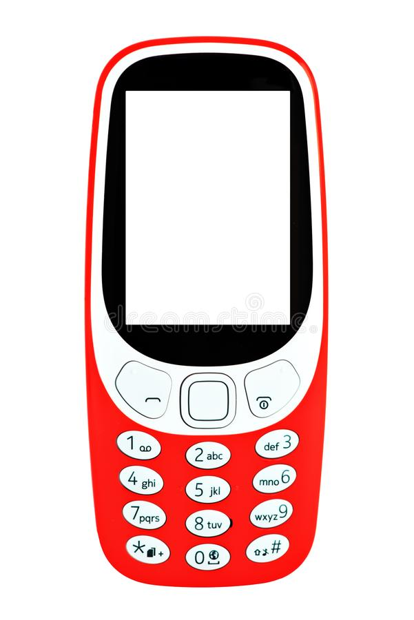 Classic mobile cell phone. vector illustration