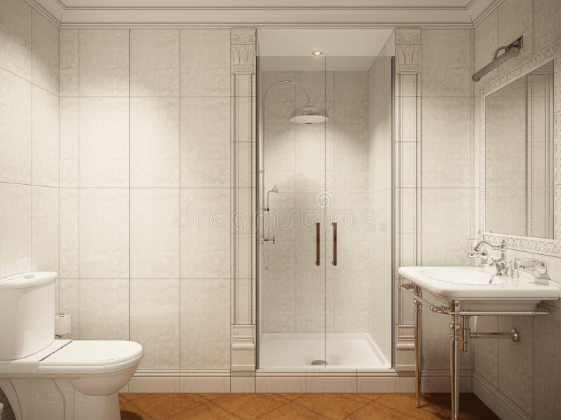 Download Classic Modern Bathroom WC Interior Design Stock Illustration