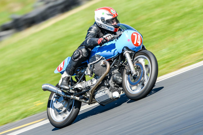Download Classic Moto Guzzi Motorcycle On A Race Track Editorial Image    Image Of Moto,