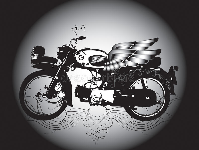 Download Classic motorcycle stock illustration. Illustration of line - 28569492