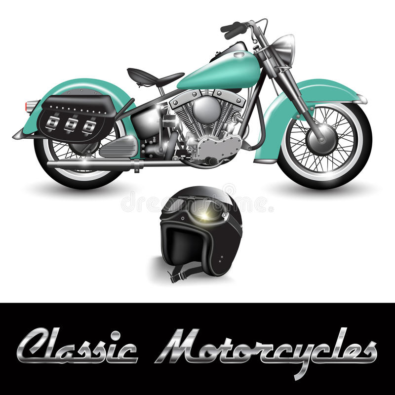 Classic motorcycle vector illustration