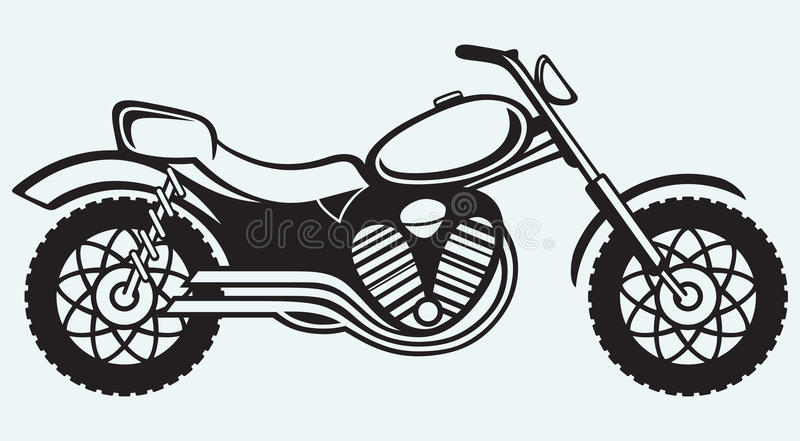 Classic motorcycle royalty free illustration
