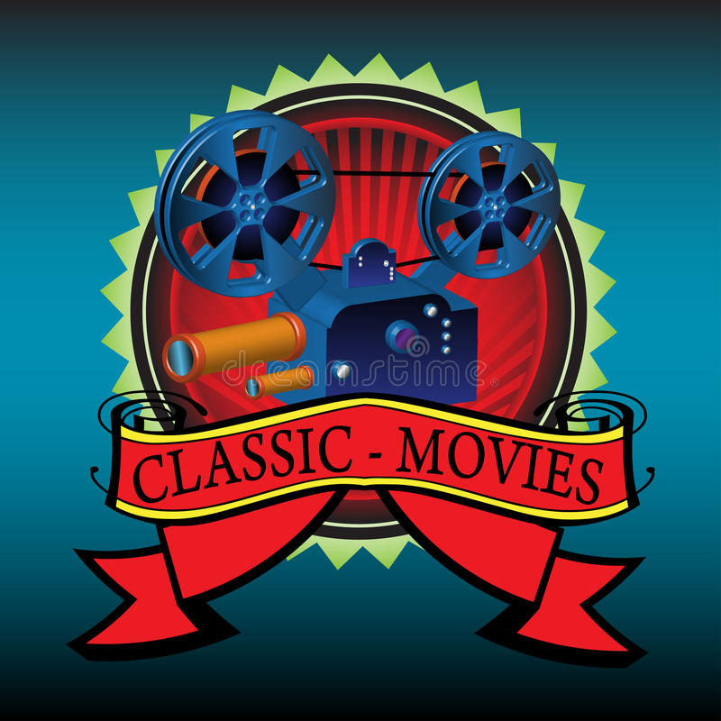 Classic movies vector illustration