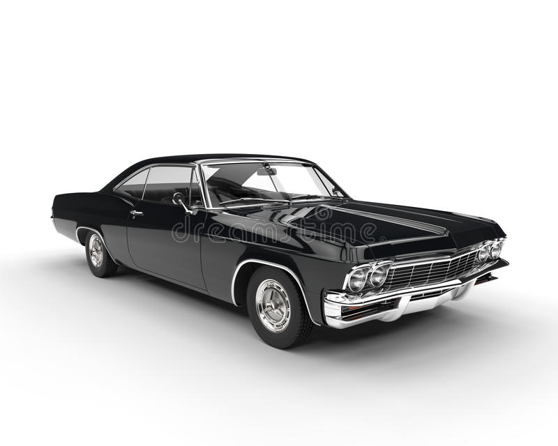 Classic muscle black car royalty free stock images