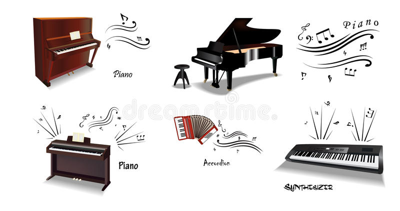 Classic music instruments vector illustration