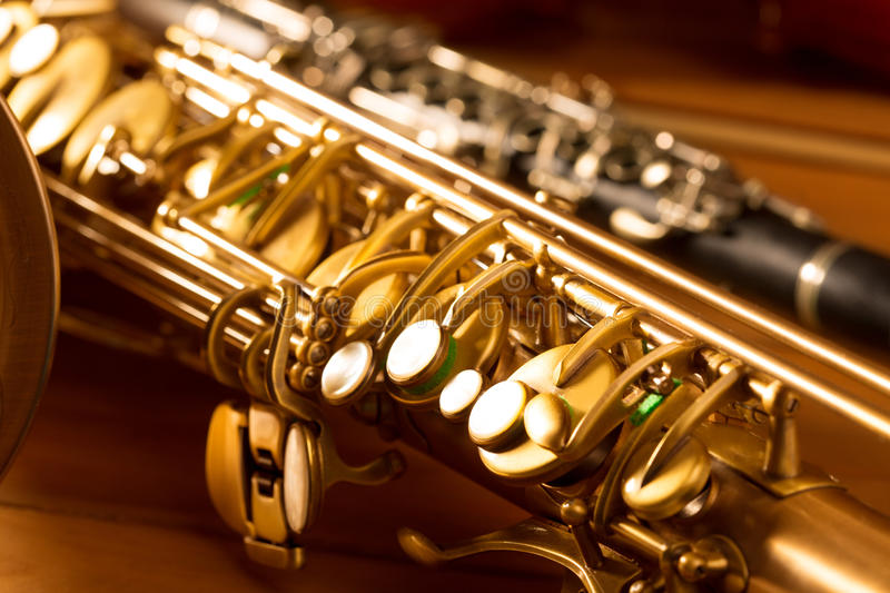 Download Classic Music Sax Tenor Saxophone And Clarinet Vintage Stock Image - Image: 28945771
