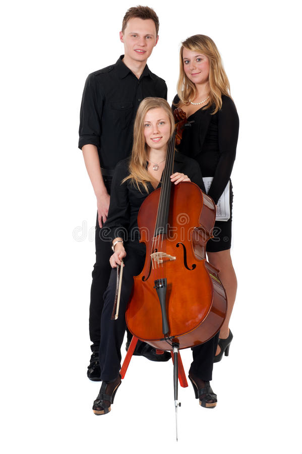 Download Classic Music Trio On White Background Stock Image - Image of musician, brown: 16747807