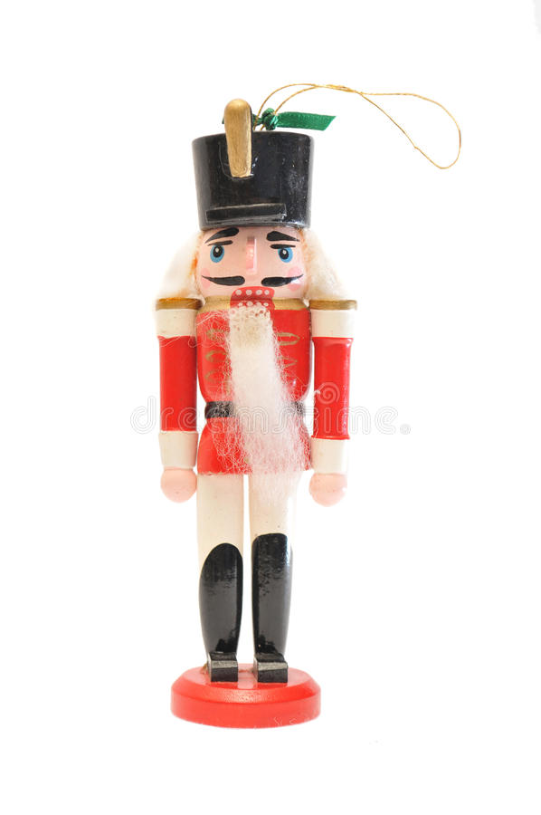 Classic nutcracker ornament stock image