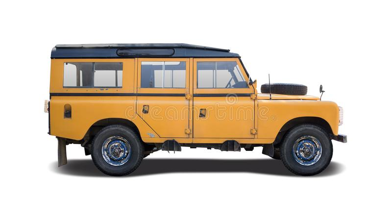 Classic off road vehicle isolated on white stock photo