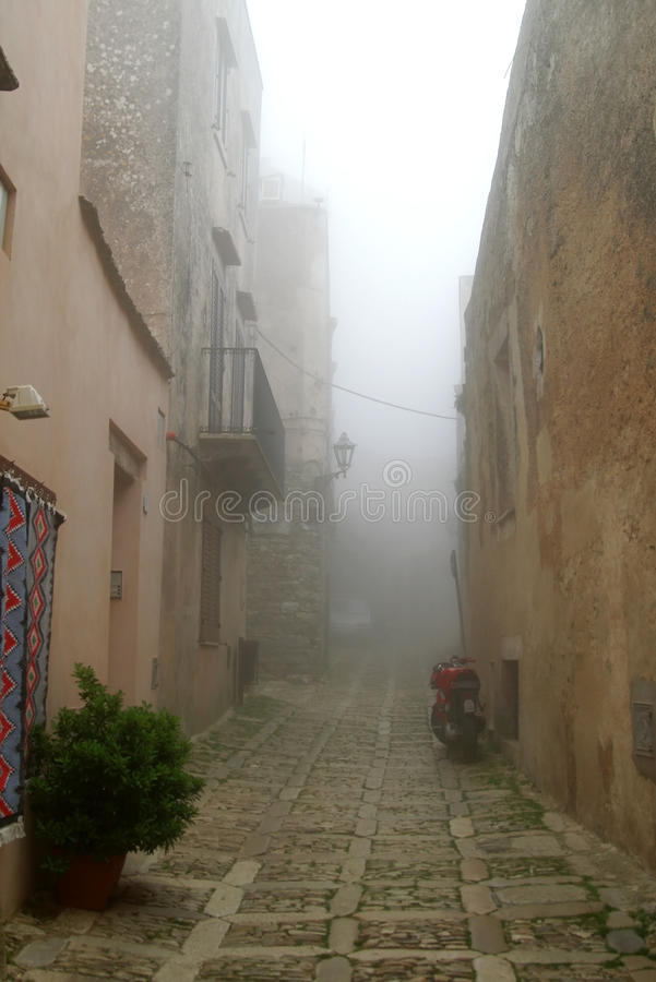 Free Classic Old Italy - Sicily, Fog In Eriche Stock Photo - 13083420