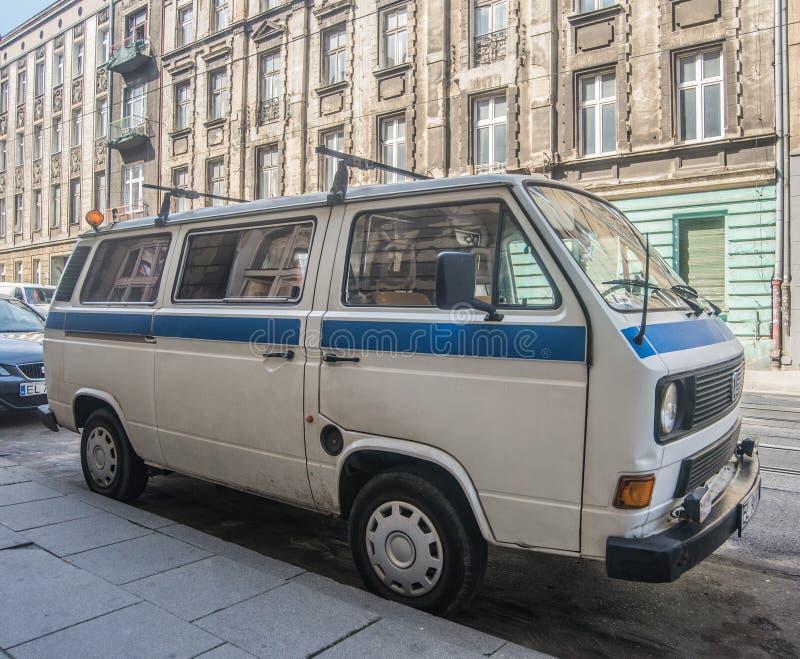 Vintage Volkswagen Transporter van stock photo