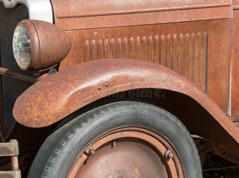 Classic old rusty pickup truck stock photo