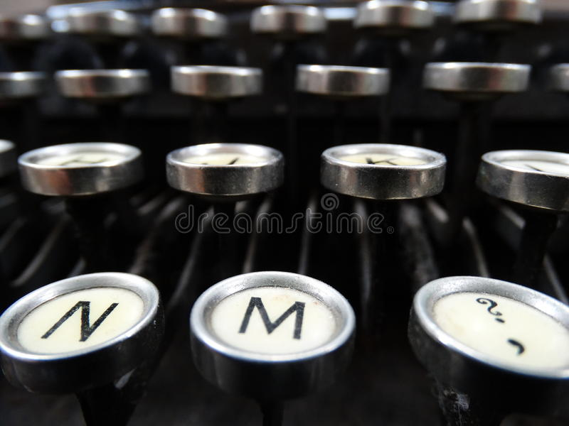 Classic Old Typewriter stock photography