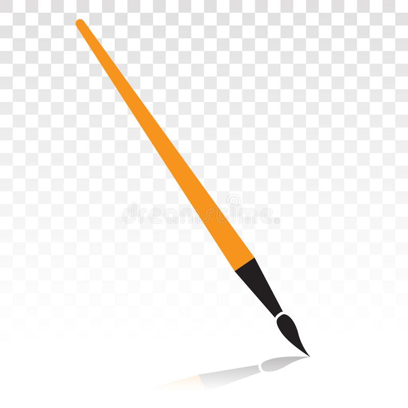 Free Classic Paintbrush / Paint Brush Vector Icons On A Transparent Background Stock Photo - 180731630