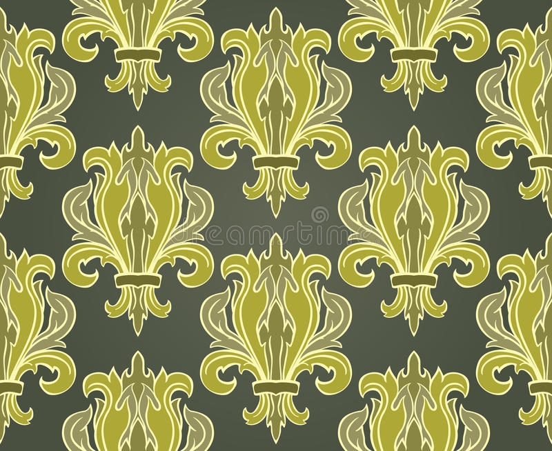 Classic pattern with damask. royalty free illustration
