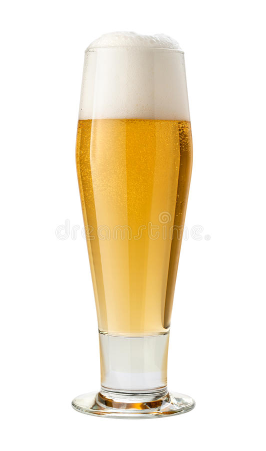 Classic Pilsner (Beer) Isolated with clipping path royalty free stock images