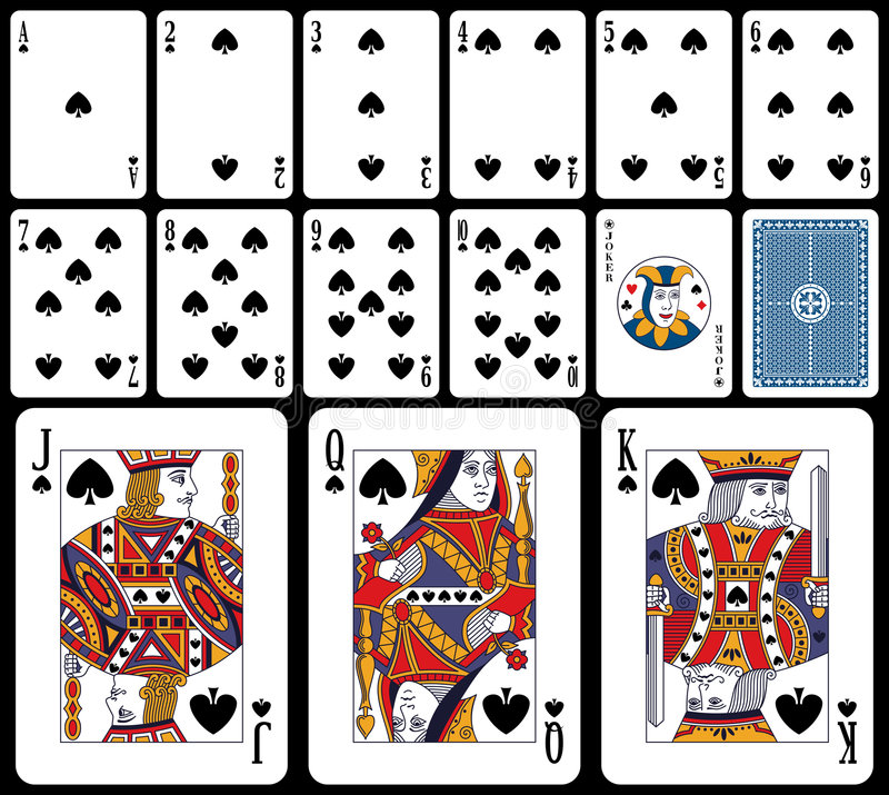 Free Classic Playing Cards - Spades Stock Images - 7718424