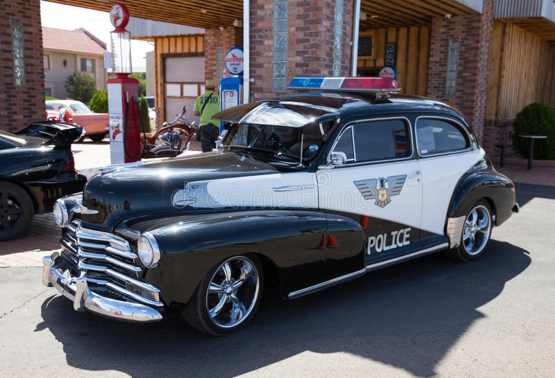 Classic Police Car stock photography