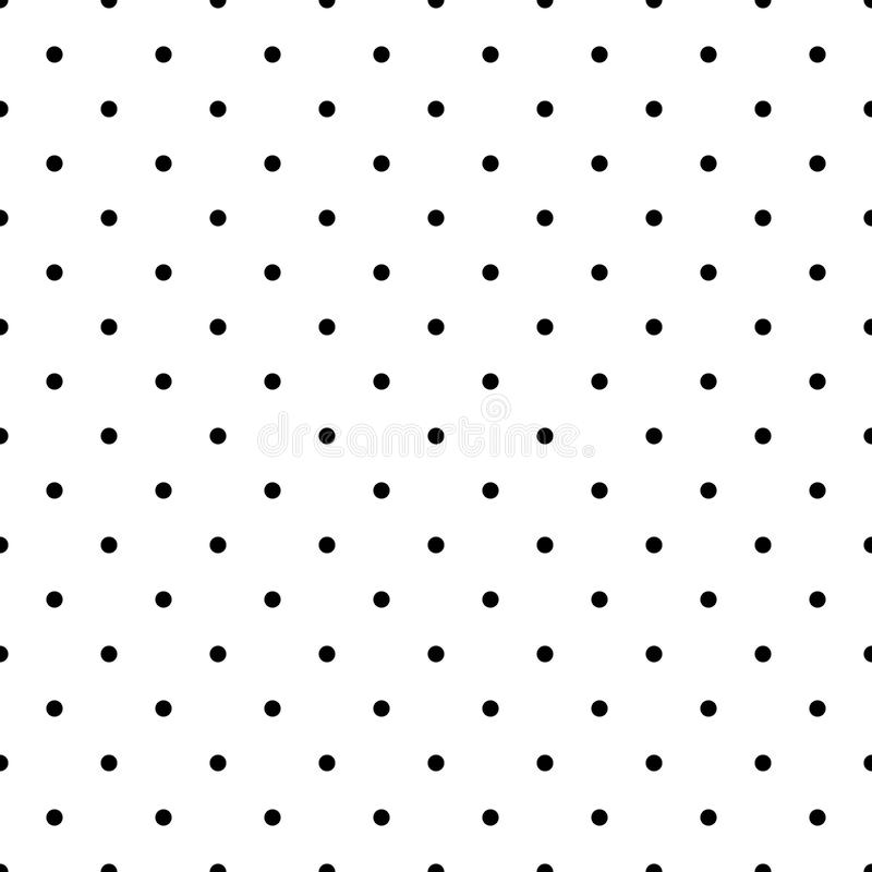 Black and White Polka Dots Seamless Pattern vector illustration