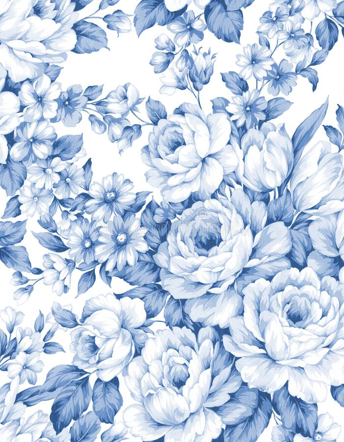 Free Classic Popular Flower Seamless Pattern Background Stock Images - 176955874