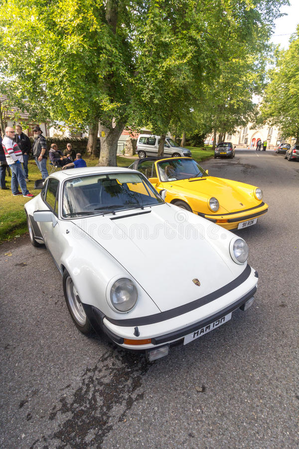 Classic Porsche 911 Carreras stock photo