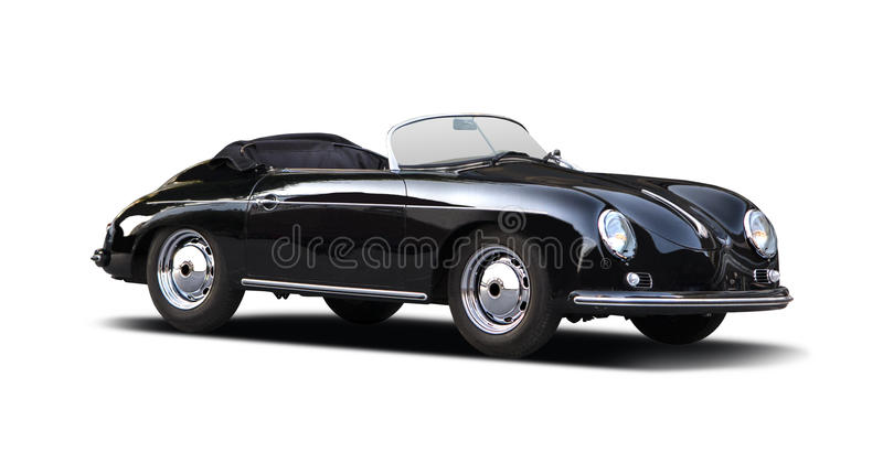 Classic Porsche Speedster 356 on white stock images