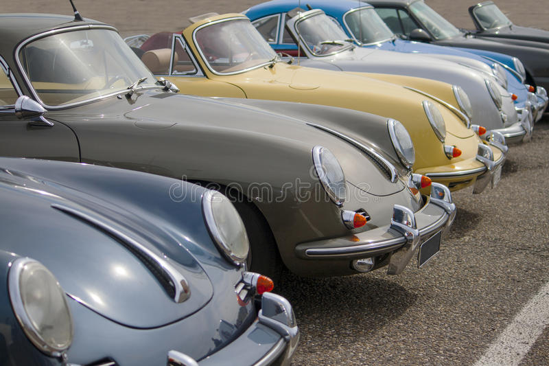 Download Classic Porsches editorial stock photo. Image of fifties - 26432998
