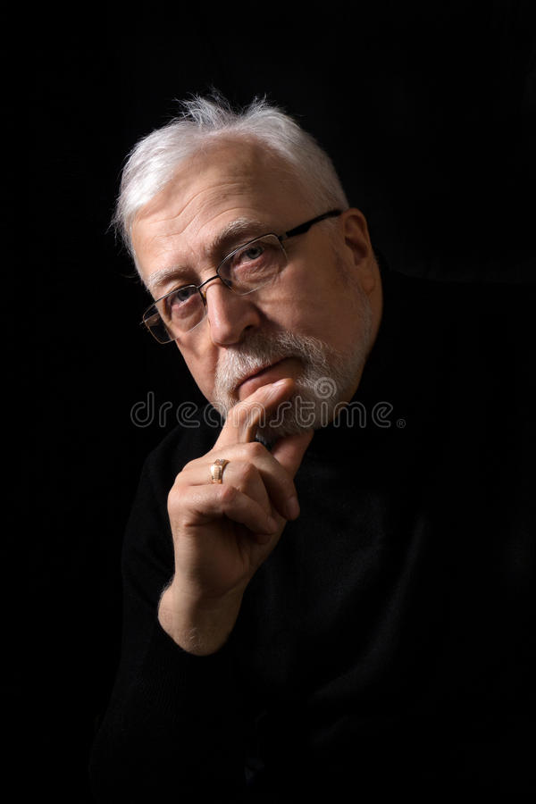 Free Classic Portrait Of A Man On A Black Background Royalty Free Stock Photos - 73763458