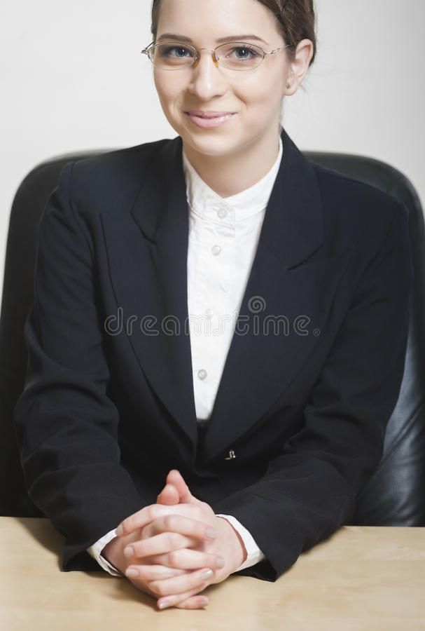 Classic portrait of a young business woman royalty free stock photography