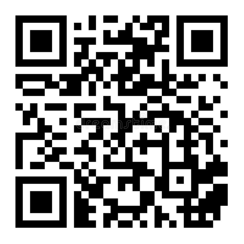 Classic QR Code Vector. Black And White. Scanning Technology Isolated Illustration stock illustration