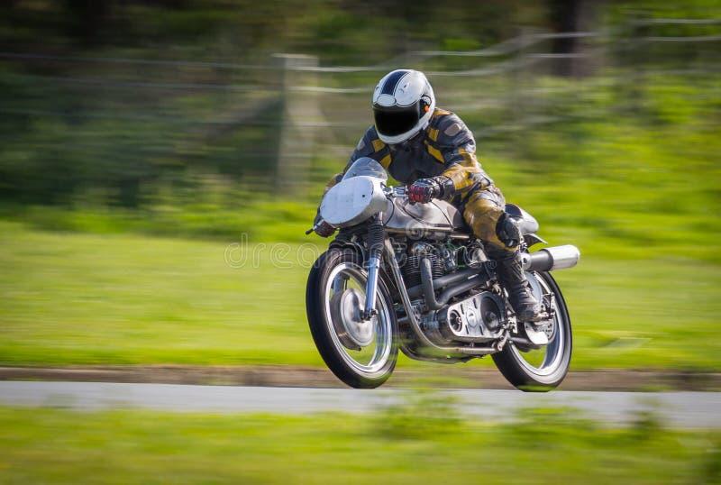 Classic racing motorbike stock photo