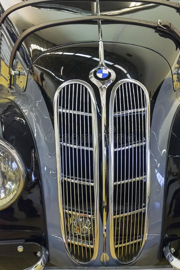 Classic radiator grille for BMW cars stock photos