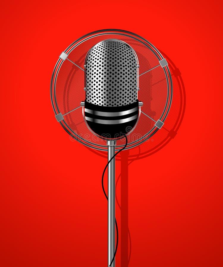 Classic radio microphone stock illustration