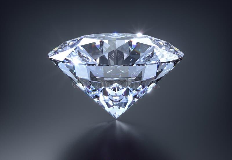 Diamond on a black background royalty free illustration