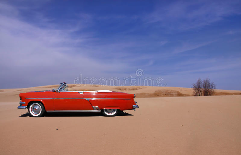 Download Classic red car stock photo. Image of landscape, sand - 14853868