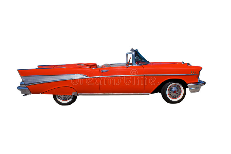 Classic red convertible stock photo