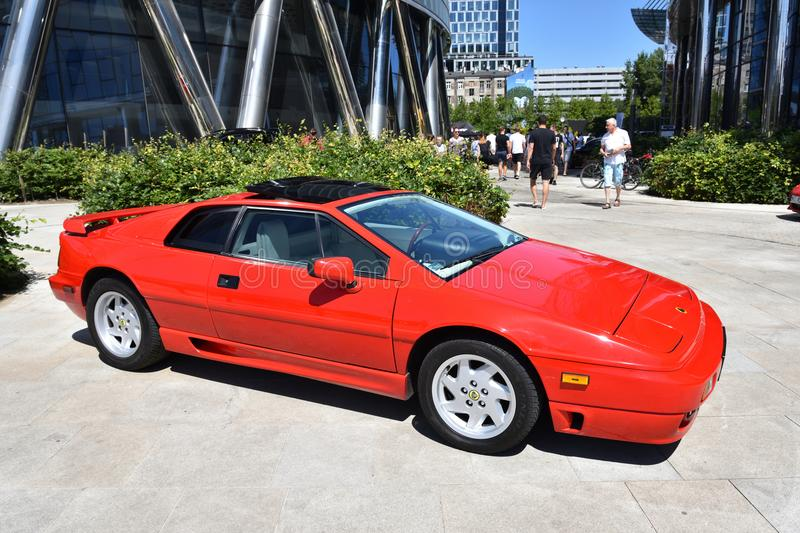 Classic red Lotus Esprit sport car royalty free stock photos