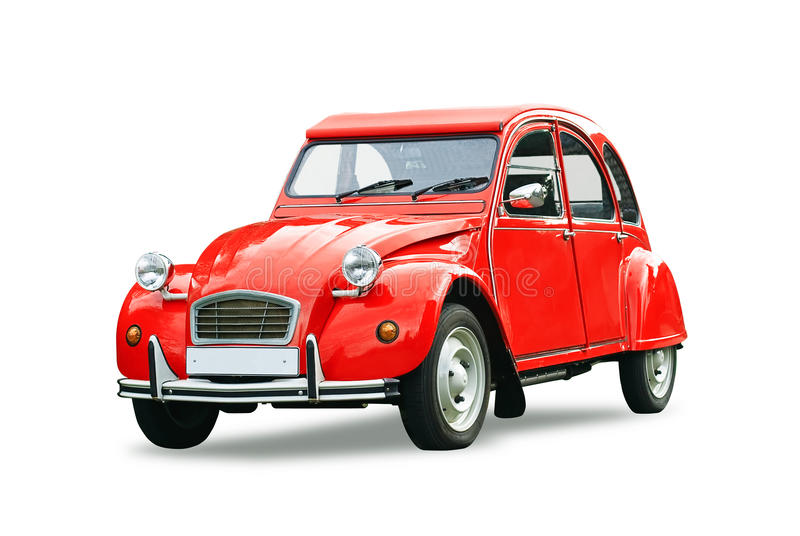 Classic red retro car royalty free stock photo