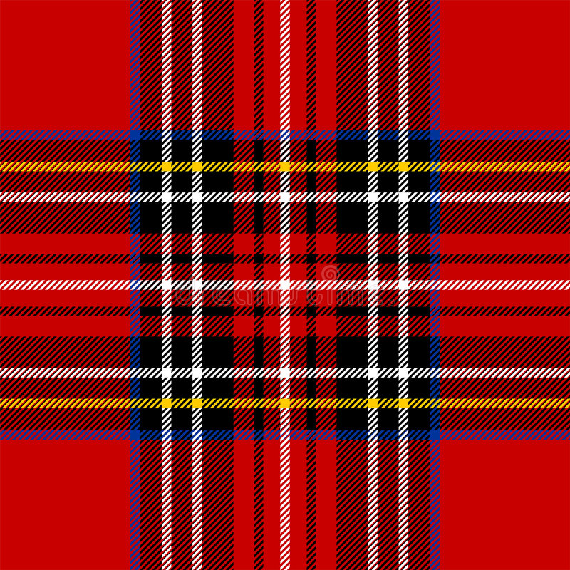 Download Classic red tartan stock vector. Image of clothing, traditional - 8269484