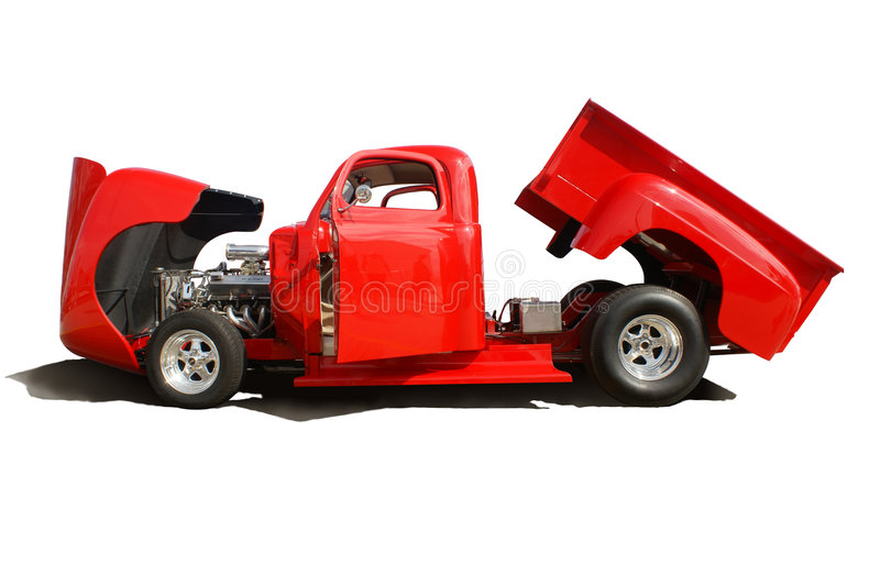 Classic Red Truck royalty free stock photography
